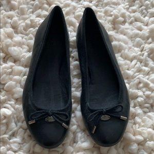 Black Coach Ballerina Flats